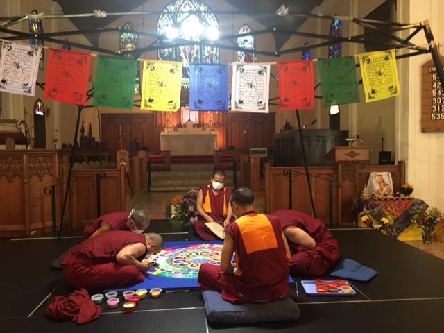 Monks 1 Flags inside